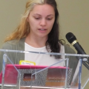 Brittany McIntosh at the mic