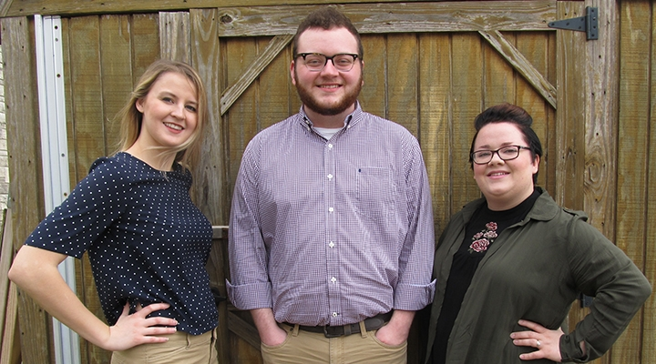 Editors-in-Chief, left to right: Cayla Robinson, Jared Rose, and Marissa Massey